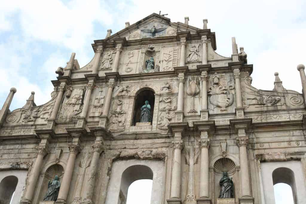 Ruins of St. Paul's Cathedral.